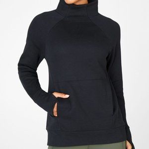 Black Fabletics Zaylee funnel neck tunic pullover